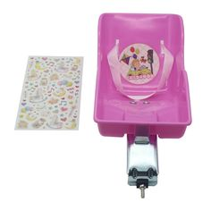 Amazon.com : CHILDHOOD Doll Bicycle Seat Child Bike Rear Seat Doll Chair with DIY Stickers : Sports & Outdoors
