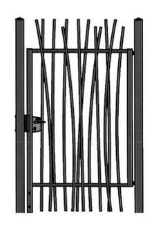 Portails battants / en acier / à barreaux / à usage résidentiel ...