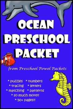 3 Day FREEBIE!!  Ocean #Preschool Packet!! Repinned by SOS Inc. Resources http://pinterest.com/sostherapy.
