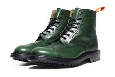 WANTED:  Green Boots! These are Tricker's x Junya Watanabe Super Boot