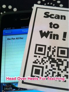 Motivate your students with these Scan to Win Tickets!