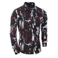 >> Click to Buy << Free Shipping Men's Camouflage Shirt Men Long Sleeve Military Style Mens Shirts Casual Shirts For Men Men's Floral Print Shirts  #Affiliate
