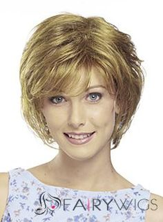 Cheap Short Wavy Blonde Side Bang African American Lace Wigs for Women 10 Inch