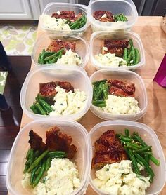 Pin for Later: 21 Simple Meal Prep Combinations Anyone Can Do Turkey Meatloaf + Creamed Cauliflower + Garlic String Beans (Low Carb Meatloaf Green Beans) Quick Healthy Meals, Make Ahead Meals, Healthy Cooking, Easy Meals, Healthy Eating, Cooking Recipes, Healthy Recipes, Lunch Recipes, Keto Recipes