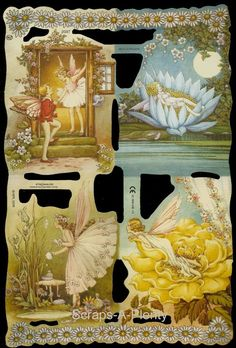 Mamelok English Scrap Die Cut - Stunning Fairy / Fairies (V & S Martin)   2097