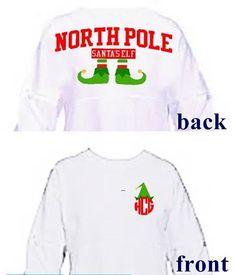 Christmas spirit jerseyHoliday shirt team elf shirt by Baileywicks Monogram T Shirts, Vinyl Shirts, Tee Shirts, Monogram Gifts, Christmas Vinyl, Christmas Pjs, Christmas Clothes, Xmas, Vinyl Designs