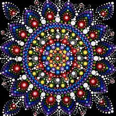 Dot Mandala Painting Original Abstract Painting Original