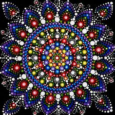 Dot Mandala Painting Original Abstract Painting Original