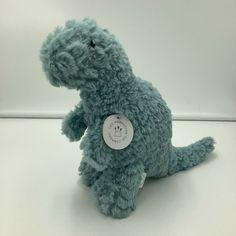 "Manhattan Toy Co Little Jurassics Nibble Blue Green Dinosaur Plush T-Rex 10"" #ManhattanToy"