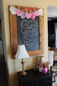 Chalkboards and Valentine decor under $20! My 27 Cents Worth: Showing some LOVE for Valentine's Decor