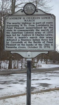 """Image result for mason county wv historical markers Andrew & Charles Lewis March"""""""