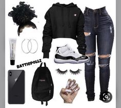 Baddie Outfits For School, Baddie Outfits Casual, Swag Outfits For Girls, Cute Teen Outfits, Teenage Girl Outfits, Cute Comfy Outfits, Dope Outfits, Teen Fashion Outfits, Chic Outfits