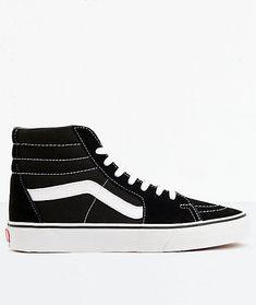 ea9a9bb449 New Vans Sk8-Hi Black  amp  White Skate Shoes Men s Sz 7.5 Wmn s Sz