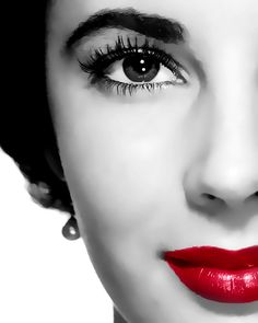 Elizabeth Taylor, deep red lips, beautiful