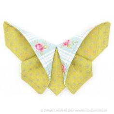 Papillon tissu en origami