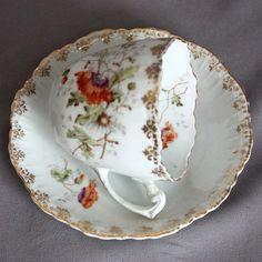 Antique-KPM-Berlin-Porcelain-CUP-SAUCER-SET