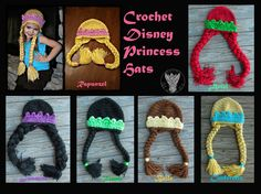 Crochet Princess Hats by TheCrochetDragon on deviantART