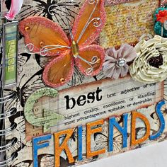 BEST FRIENDS AZ Friendship Scrapbook Photo Album by Papersilly