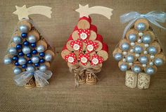 Creative Christmas Decorations on a Budget – Wine Cork Christmas Tree - - adorable mini cork trees Christmas Crafts To Make, Christmas Ornament Crafts, Holiday Crafts, Christmas Decorations, Snowman Crafts, Tree Decorations, Wine Cork Art, Wine Cork Crafts, Bottle Crafts