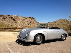 Silver Porsche 356 Cabriolet - like the old better than the new Porsches