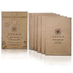 ORGAID Antiaging  Moisturizing Organic Sheet Mask  Made in USA pack of 6 >>> Check out the image by visiting the link. (Note:Amazon affiliate link)