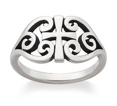 Scroll Cross Ring #jamesavery