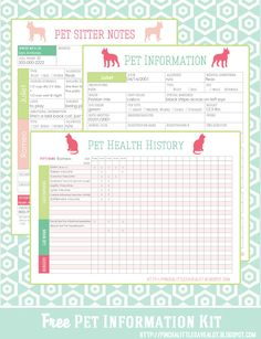 Pinch A Little Save-A-Lot: Free: Pet Information Kit