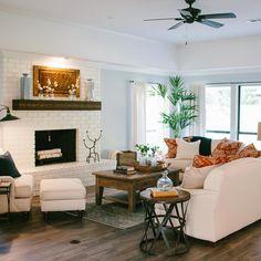 Seating arrangement in living room