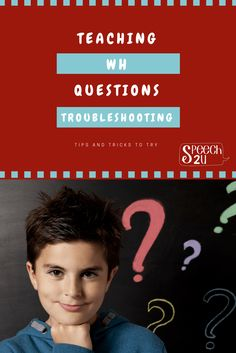 6 reasons a child can't answer that WH question - Speech 2U. Pinned by SOS Inc. Resources. Follow all our boards at pinterest.com/sostherapy/ for therapy resources.