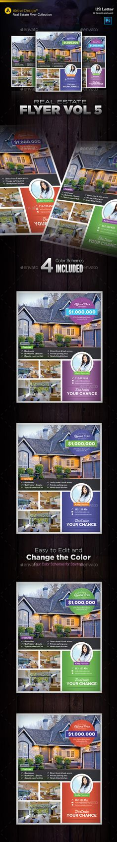 Real Estate Flyer Template Vol  Real Estate Flyers Flyer