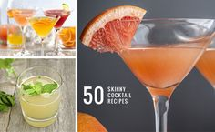 Guide to Skinny Sippin' (50 Low Cal Cocktails!) | http://hellonatural.co/guide-to-skinny-cocktails/