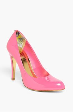 Ted Baker London 'Jaxine 3' Pump | Nordstrom $169.95 - neon pink?  yes, please!