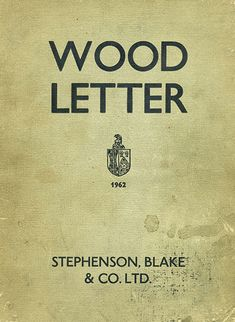 Stephenson, Blake & Co. Wood Letter specimen/catalog cover