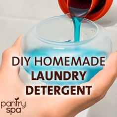Save big money when you make your own DIY liquid laundry detergent using this long-lasting, powerful, and effective homemade recipe to do your laundry.