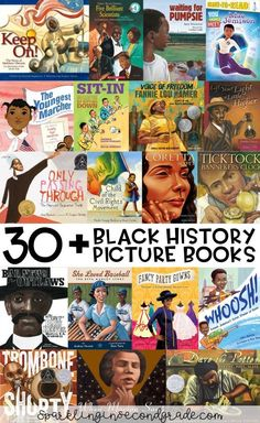 Here are over 30 picture book titles celebrating the accomplishments of African Americans. Here are over 30 picture book titles celebrating the accomplishments of African Americans. First Grade, Second Grade, Black History Books, Black Books, Afro, Black History Month Activities, History Facts, Nasa History, History Quotes