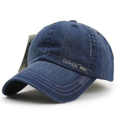 ed6d46006b2 Men Women Vintage Washed Denim Cotton Baseball Cap Adjustable Golf Snapback  Hat is hot sale on Newchic.