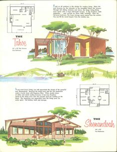 Vintage House Plans, Modern House Plans, Small House Plans, Micro House, Architecture Plan, Mid Century House, Interior Exterior, Floor Plans, Bed Plans