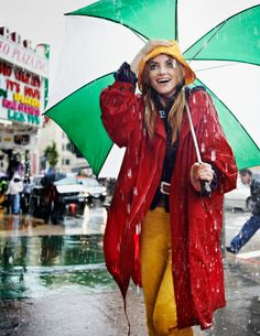 """Rain Girl"", Elyse Saunders by David Burton, Elle Italia April 2011"
