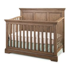 Shopping for baby? Convertible cribs like a 4 in 1 crib grow with your child. Get a white convertible crib or a 4 in 1 convertible crib at buybuyBABY. Need convertible baby cribs? Buy now. Wood Nursery, Rustic Nursery, Rustic Crib, Rustic Baby Nurseries, Bear Nursery, Safari Nursery, Nursery Decor, Room Decor, Baby Boy Rooms