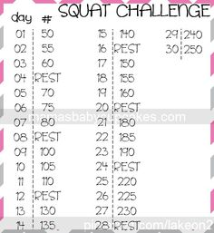 Attempt 2 at a 30 day squat challenge! Made it to 16 last time!