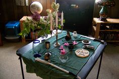 Altars:  How to Set up a Pagan/Wiccan #Altar (Simple). These are guidelines only for a Pagan/Wiccan Altar. You should set up your own Altar according to the spiritual tradition you follow or in whatever way feels right to you personally.