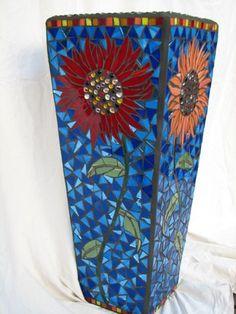 #129 - Sunflower Mosaic Planter by montclairmetrathon, via Flickr