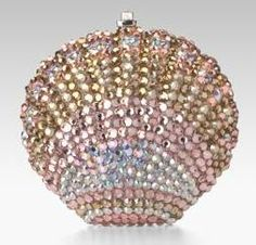 Judith Leiber Sea Shell Minauderie clutch... Love