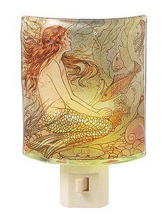 Shining Sea Siren Night Light at PLASTICLAND - I want this so badly.