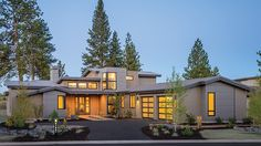 Perfect For A Natural Setting HWBDO77108 Contemporary/Modern Houses from BuilderHousePlans.com