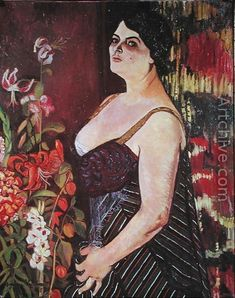 ⊰ Posing with Posies ⊱ paintings of women and flowers - Suzanne Valadon