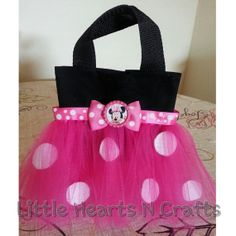 Minnie Mouse Inspired Polka Dot Tutu Purse by LittleHeartsNCrafts, $8.50