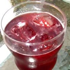 Cherry Fizz  Frozen cherry juice thawed mixed w/ ginger ale