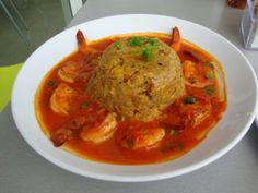 Mofongo with shrimp