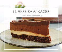 Raw kager smager fantastisk, og så er de både sukkerfrie, glutenfrie, melfrie og veganske. Se 4 gode opskrifter her: Lchf, Raw Food Recipes, Tiramisu, Sweet Tooth, Recipies, Cheesecake, Paleo, Low Carb, Snacks